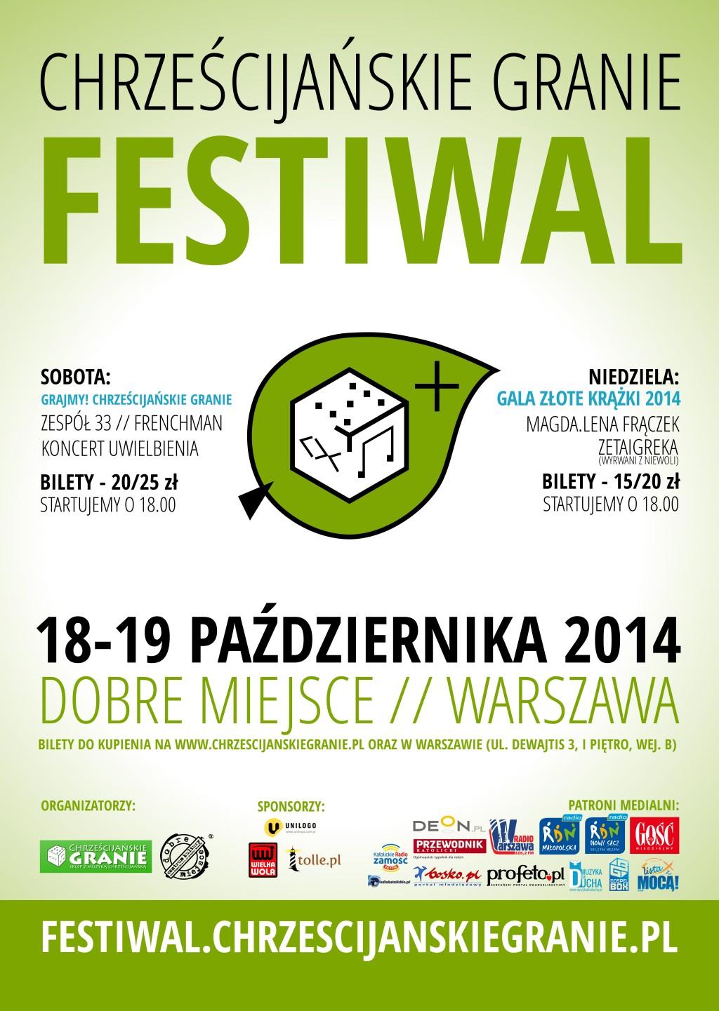 4. Festiwal Chrześcijańskie Granie - plakat